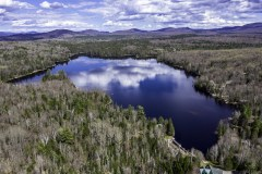 Aerial Photo of Lake Snow in Indian Lake, NY in the Spring