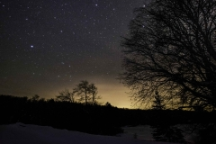 Night Sky over Greenbridge in Thendara NY