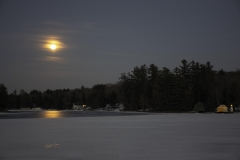 Night Sky photo of Super Moon over the Old Forge Pond in Old Forge, NY