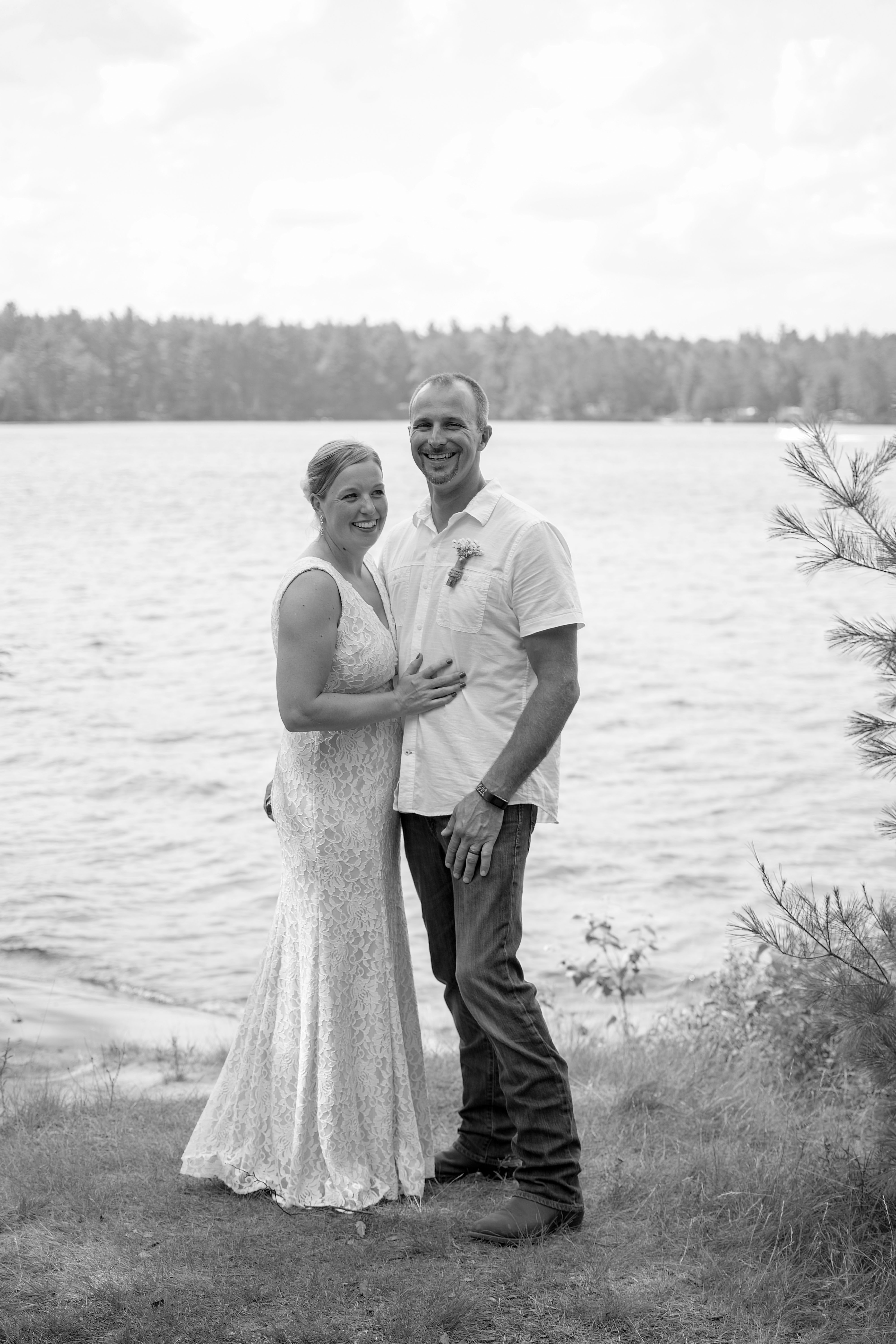 Wedding on Chapel Island, Saranac Lake, NY _ Wedding Photo 21