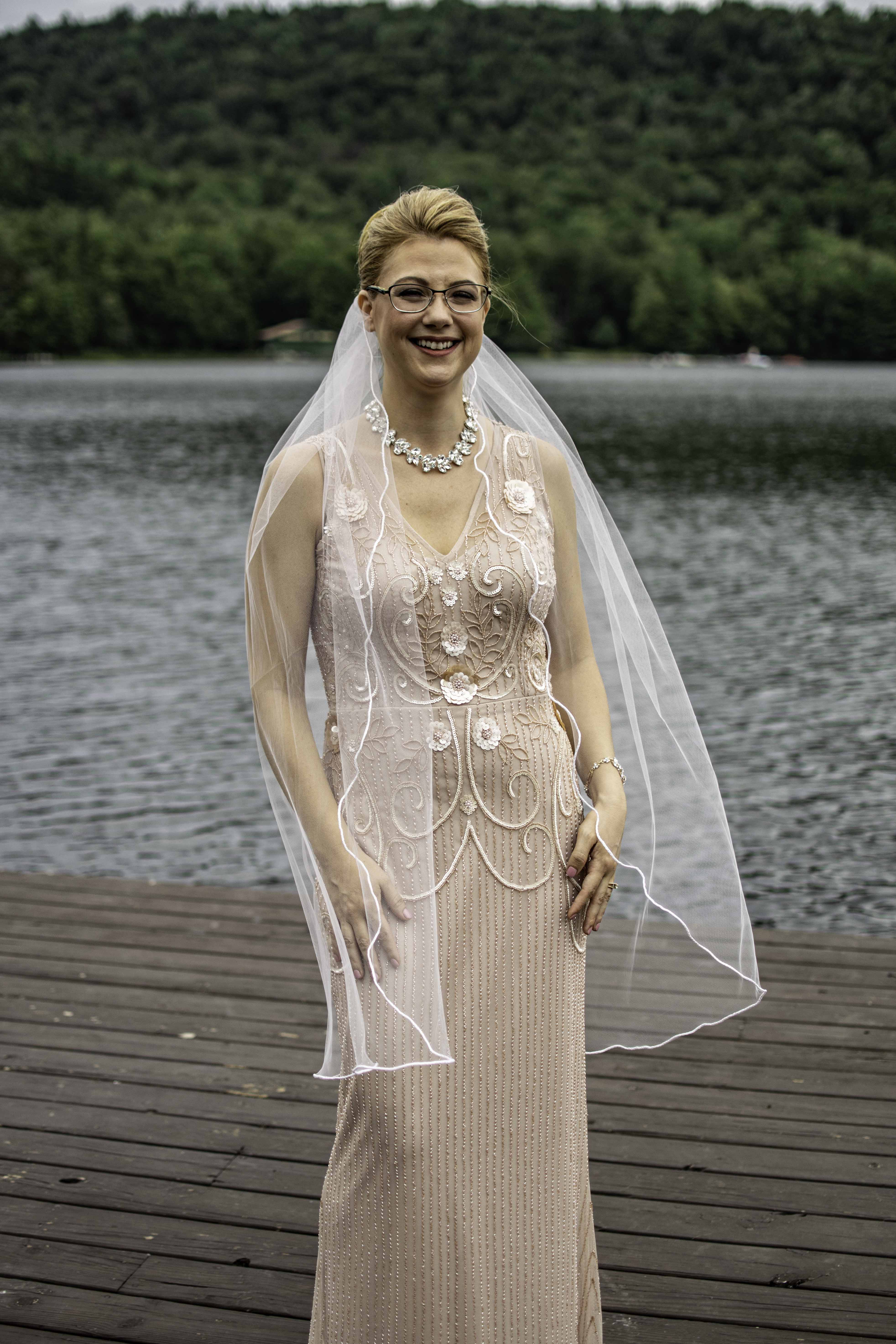 Beautiful Bride at the Big Moose Inn on her wedding day