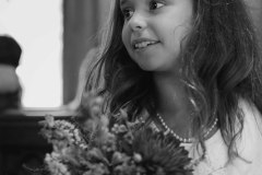 Flower girl at the Chapel at wedding