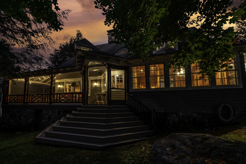 Twilight Real Estate Photography from Upper Saranac Lake in Tupper Lake, NY